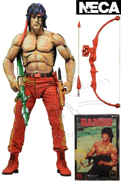Neca Rambo Classic Video Game Appearance Action Figure