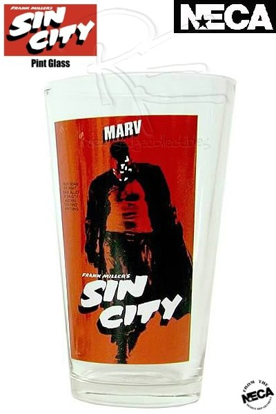 Neca Sin City Marv 16 Ounce Pint Glass