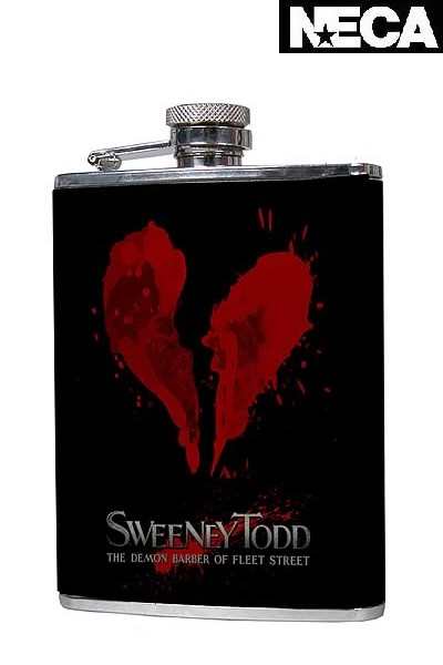 Neca Sweeney Todd 6 Ounce Stainless Steel Decorative Flask