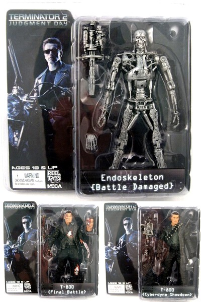 Neca Terminator 2 Series 2 Action Figure Set of 3