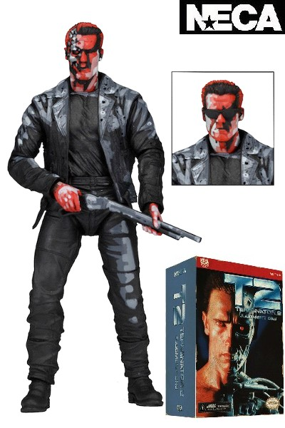 Neca Terminator 2 T-800 Video Game Appearance 7 Inch Figure
