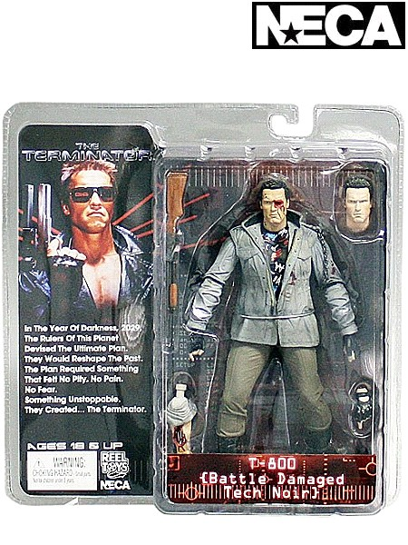 Neca Terminator Battle Damaged Tech Noir T-800 Action Figure