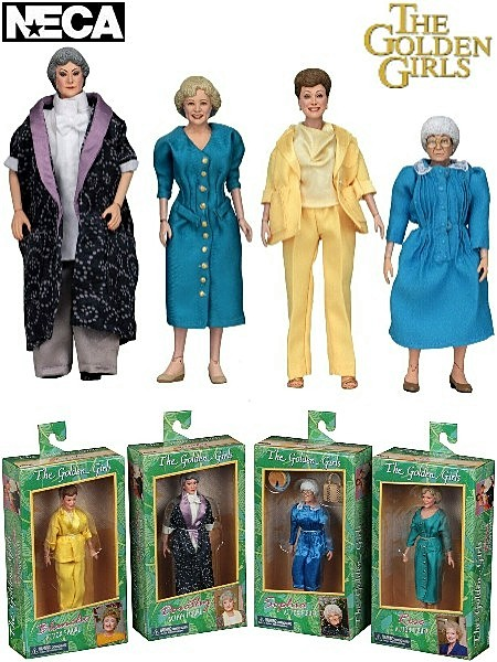 Neca The Golden Girls 8 Inch Clothed Action Figure Set of 4