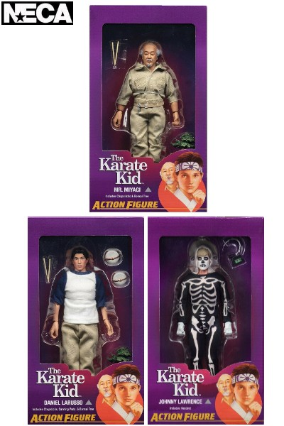 Neca The Karate Kid 8 Inch Clothed Action Figure Set of 3