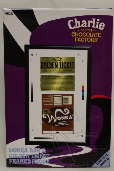 Neca Charlie & the Chocolate Factory Golden Ticket Framed Proof