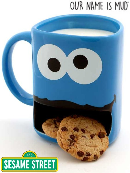 Our Name is Mud Sesame Street Cookie Monster Cookie Dunk Mug