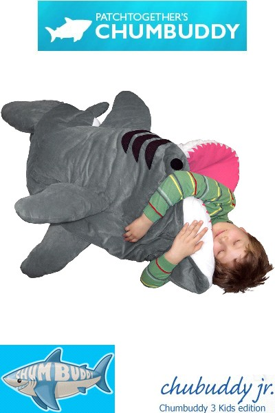 Patch Together Chumbuddy Jr Great White Shark Kids Sleeping Bag