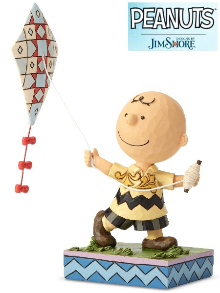 Peanuts by Jim Shore Charlie Brown Flying a Kite Statue