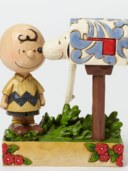 Peanuts by Jim Shore Charlie Brown and Snoopy Mailbox Statue