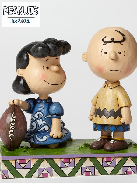 Peanuts by Jim Shore Football Lucy and Charlie Brown Statue