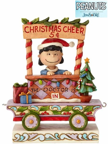 Peanuts by Jim Shore Lucy Christmas Train All Welcome Statue