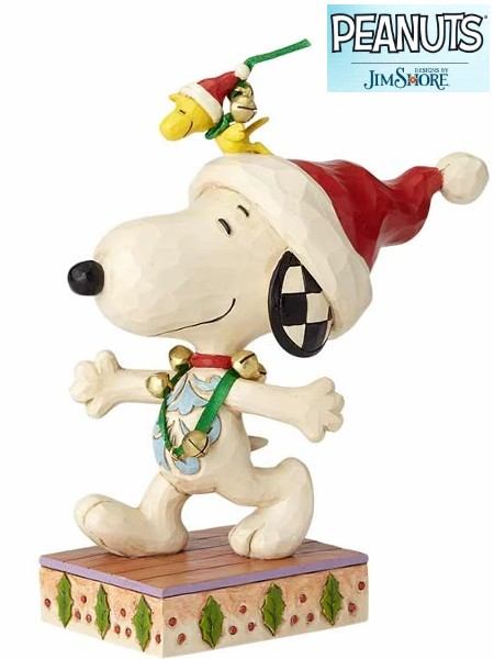 Peanuts by Jim Shore Snoopy with Jingle Bells Statue