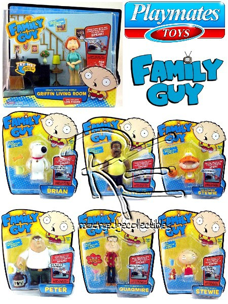 Playmates Family Guy Crazy Interactive World Talking Figure Set