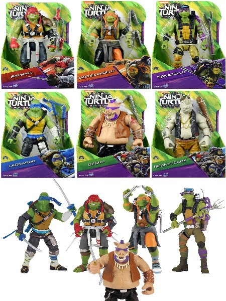Playmates Teenage Mutant Ninja Turtles 2 Movie 11 Inch Set of 6