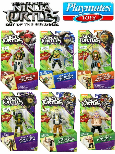 Playmates Teenage Mutant Ninja Turtles 2 Deluxe Talking Set of 6