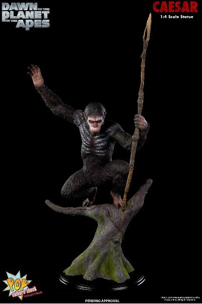 Pop Culture Shock Planet of the Apes Caesar Exclusive Statue AP
