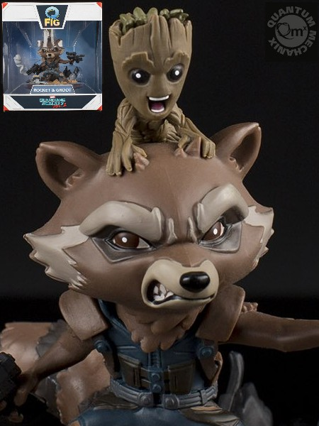 QMx Marvel Guardians of the Galaxy Rocket & Groot Q-Fig Diorama