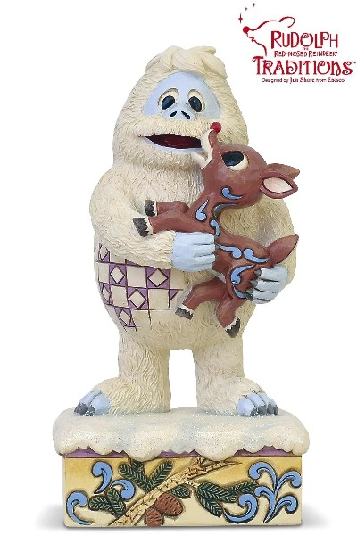Rudolph Traditions by Jim Shore Bumble Holding Rudolph Statue