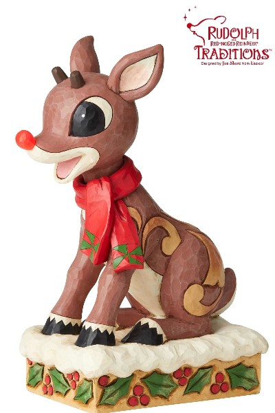 Rudolph Traditions by Jim Shore Rudolph with Lighted Nose Statue