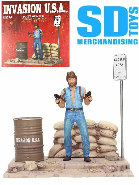 SD Toys Invasion USA Chuck Norris as Matt Hunter Deluxe Diorama