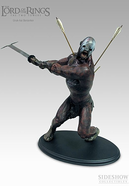 Sideshow Weta The Lord of the Rings Uruk Hai Berserker Statue