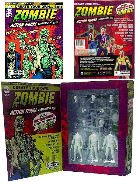 EMCE Toys Create Your Own Zombie Action Figure Customizing Kit