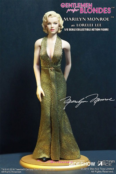 Star Ace Toys Marilyn Monroe as Lorelei Lee Gold Dress Figure