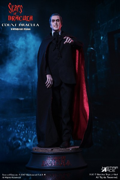 Star Ace Toys Christopher Lee Count Dracula Quarter Scale Statue