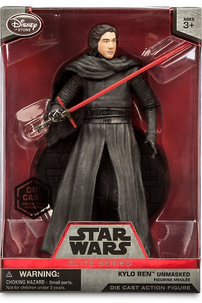 Hasbro Star Wars Elite Series Die Cast Kylo Ren Unmasked Figure