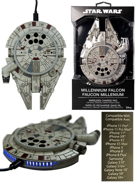 Star Wars Millennium Falcon Wireless Charger with AC Adapter