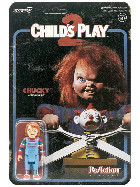 Super 7 Childs Play 2 Evil Chucky ReAction 3.75 Inch Figure