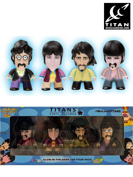 Titan Merchandise The Beatles Yellow Submarine Glow Figure Set