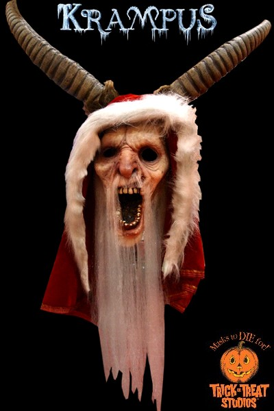 Trick or Treat Studios Krampus Mask with Hood and Horns