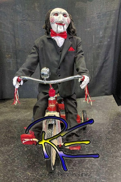 Trick or Treat Studios Saw Billy Puppet on Tricycle Life Size