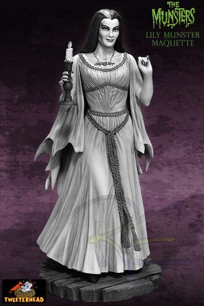 Tweeterhead The Munsters Lily Munster Black and White Maquette