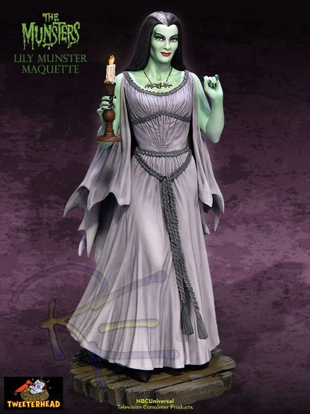 Preorder tweeter head the munsters lily munster maquette - Familia monster disfraz ...