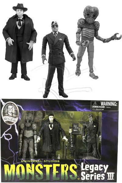 Diamond Select Toys Universal Monsters Black & White Set #3
