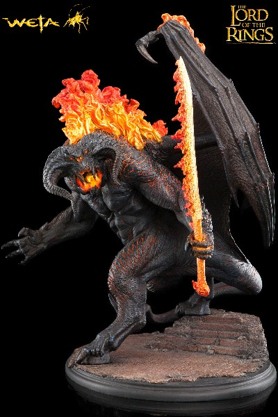 Weta Lord of the Rings Balrog Demon of Shadow and Flame Statue