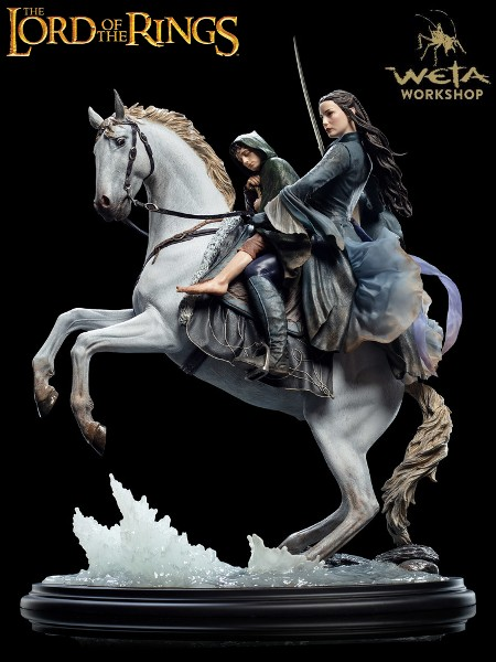 Weta The Lord of the Rings Arwen and Frodo on Asfaloth Statue