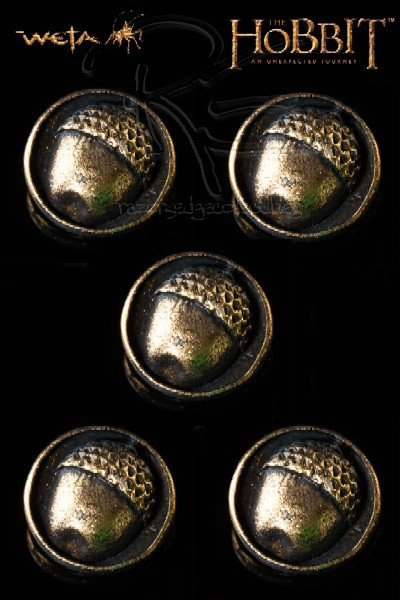 Weta Collectibles The Hobbit Bilbo Baggins Buttons 5 Pack
