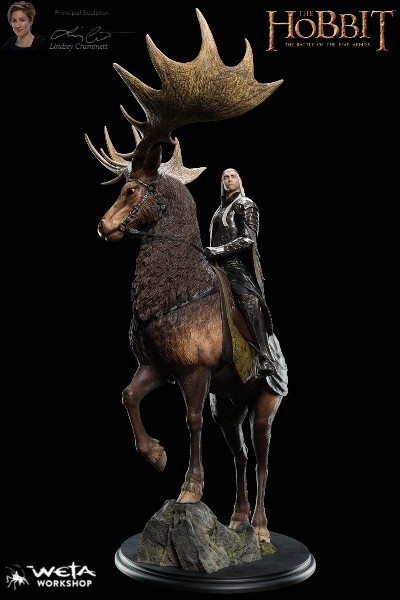 Preorder Weta The Hobbit King Thranduil on Elk Statue