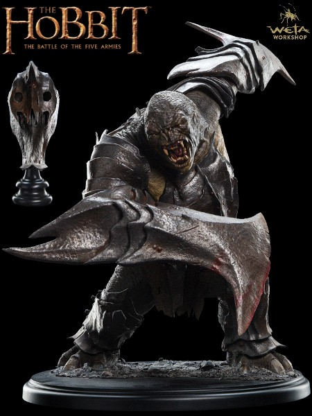 Weta Collectibles The Hobbit War Troll and Helm Statue