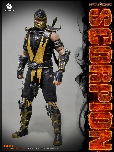 WorldBox Mortal Kombat Scorpion Sixth Scale Collectible Figure