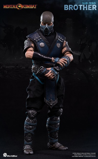 WorldBox Mortal Kombat Sub Zero Brother Sixth Scale Figure