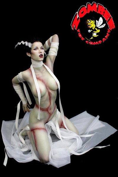 Zombee Toy Company Bride of the Monster Black Hair Resin Statue