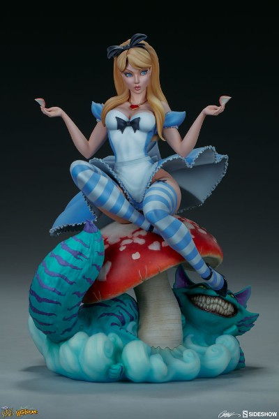 Sideshow Fairytale Fantasies Alice in Wonderland Statue