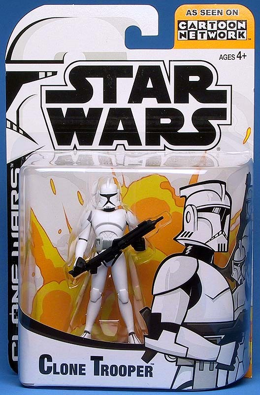 Hasbro Star Wars Clone Wars Animated Season 1 White Clone Figure