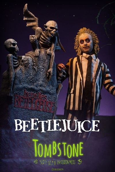 Sideshow Beetlejuice and Tombstone Sixth Scale Figure Set