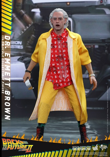 Preorder Hot Toys Back to the Future II Dr Emmett Brown Figure