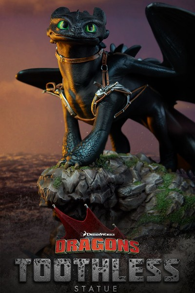 Sideshow Dreamworks How to Train Your Dragon Toothless Statue